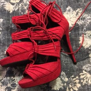 Nwt wild diva red hot sexy stiletto heels shoes